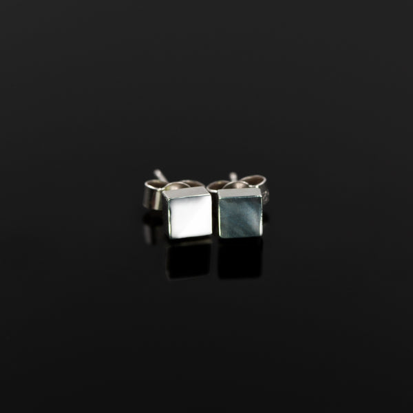 Elemental studs in solid sterling silver by Rouaida.