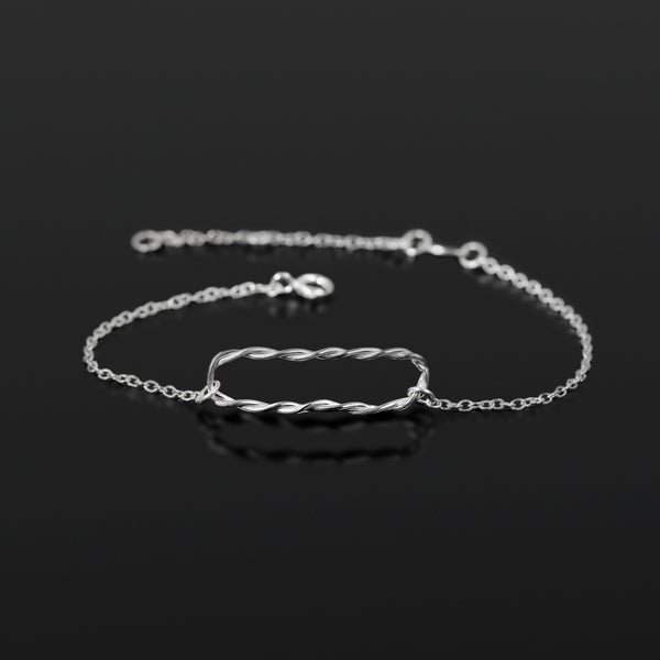 Sterling silver Equilibrium bracelet by Rouaida.