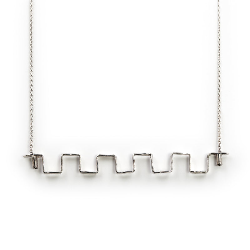 Sterling silver Iteration necklace by Rouaida.