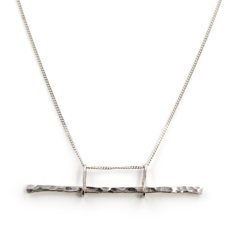 Sterling silver Parallax necklace by Rouaida.