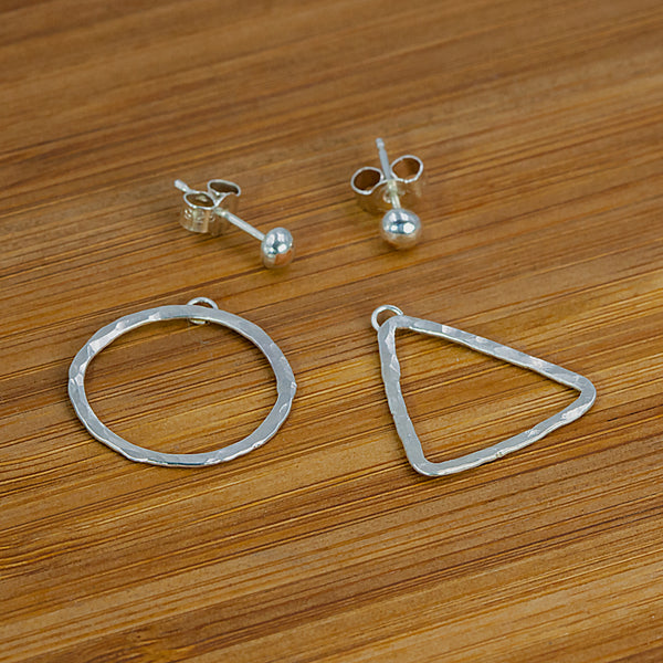 Sterling silver Quantum earrings by Rouaida.