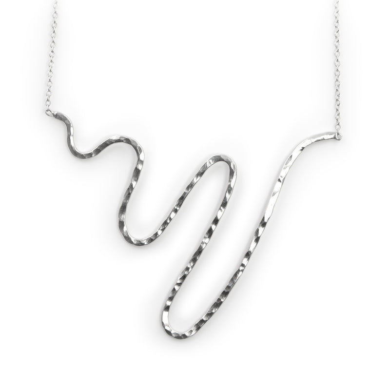 Sterling silver Storm Surge necklace by Rouaida.