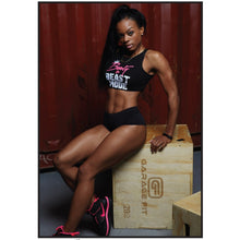 Beauty and Beast Mode Crop (Blk) **BEST SELLER**