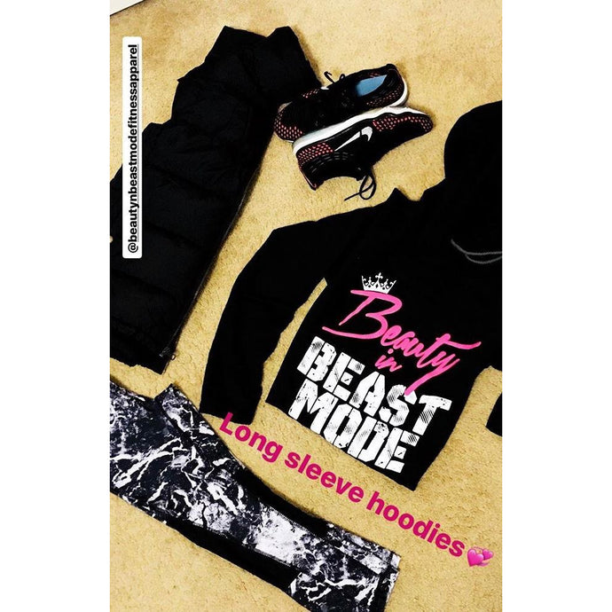 Beauty and Beast Mode Pullover (Blk) **BEST SELLER*