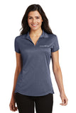 Ladies Trace Heather Polo. PA Logo