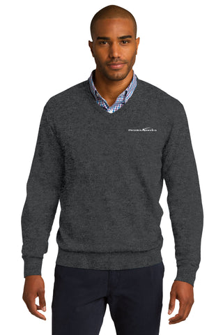 V-Neck Sweater. PA Logo