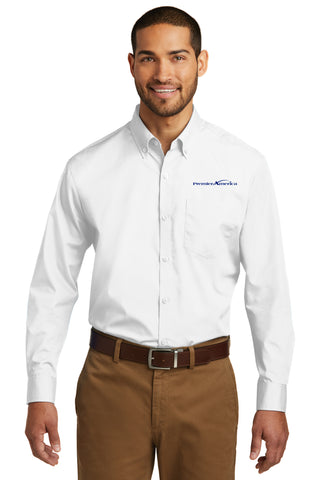 TALL - Long Sleeve Carefree Poplin Shirt. PA Logo