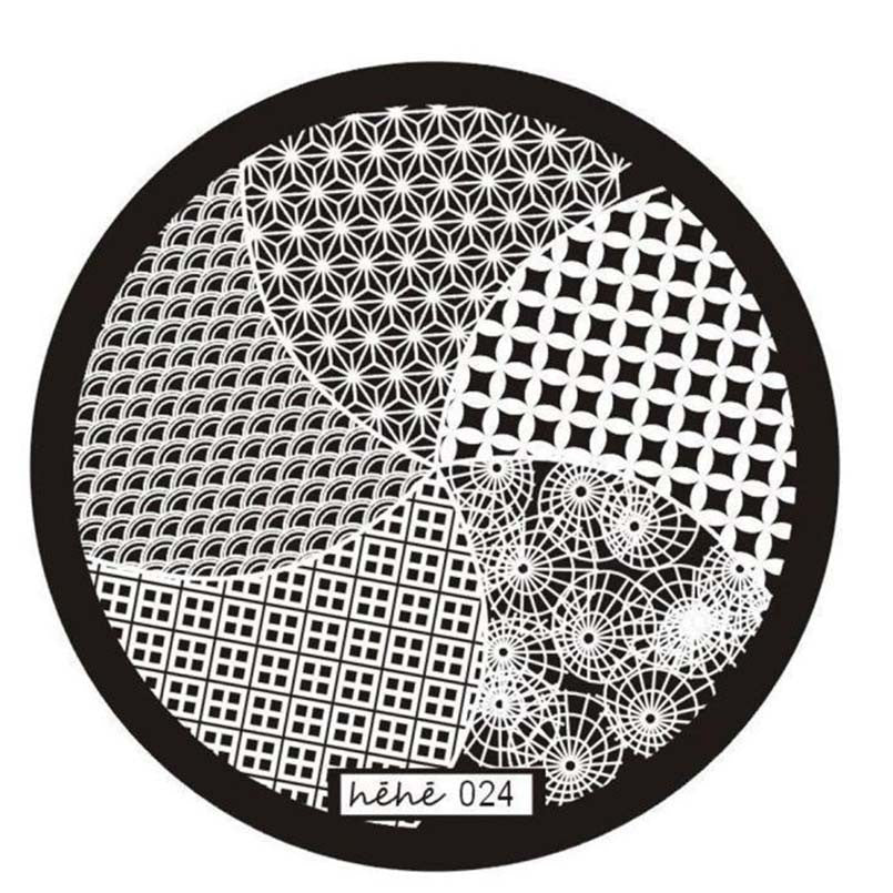 Nail Art Image Stamp Stamping Plates Manicure Template Hehe Series 024