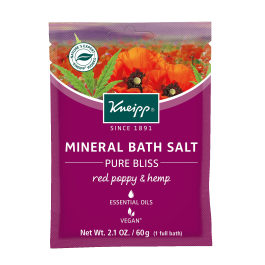 Kneipp Red Poppy & Hemp Mineral Bath Salt at The Summit Spa