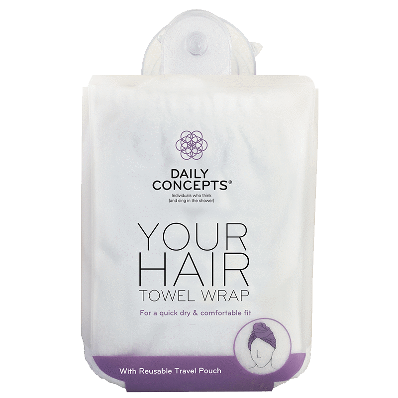 Daily Concepts Your Hair Towel Wrap White