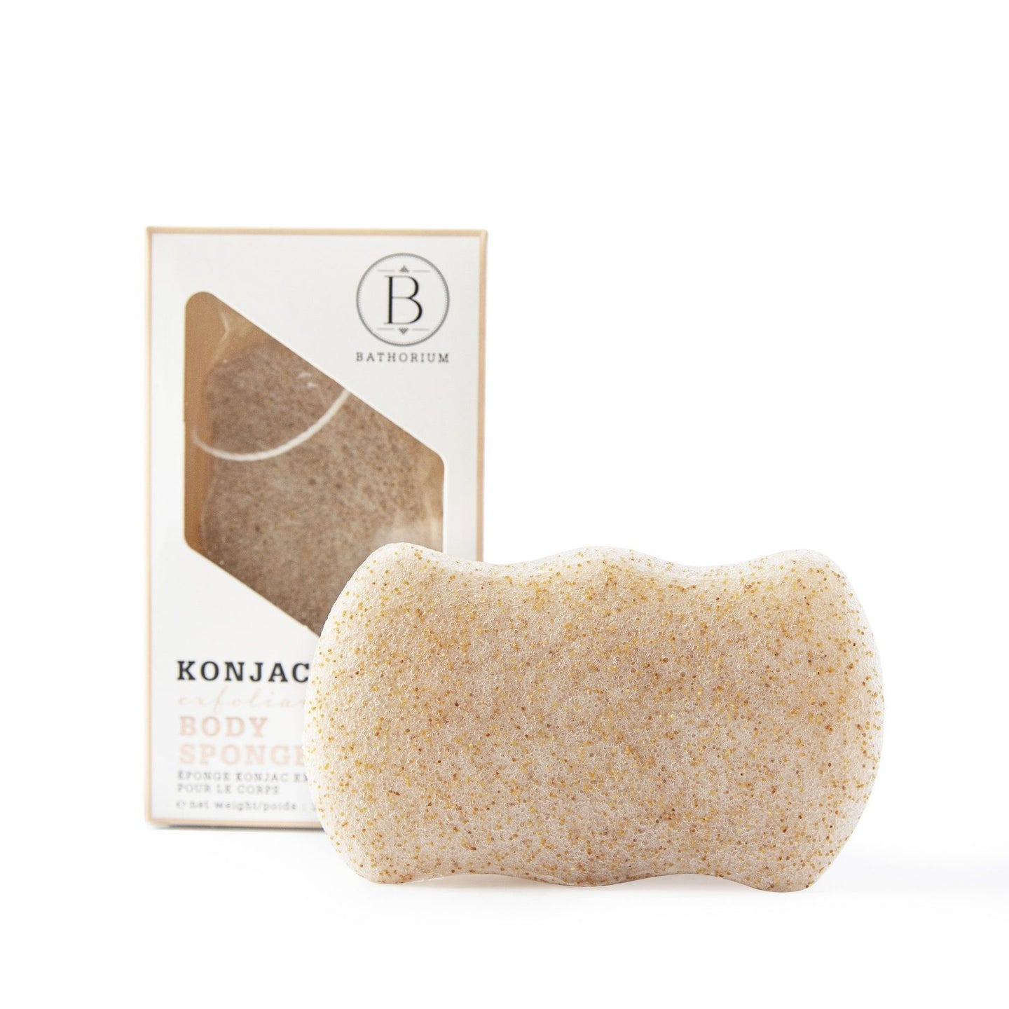 Bathorium Konjac Wallnut Shell Exfoliating Body Sponge at The Summit Spa