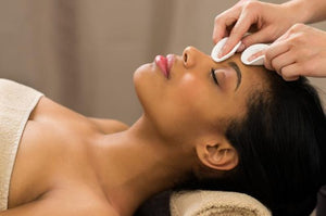 Woman Enjoying Facial Treatment