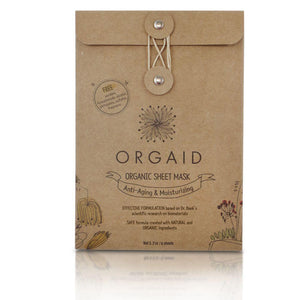 Orgaid Anti-Aging & Moisturizing Organic Sheet Mask Box (4 Sheets) at The Summit Spa