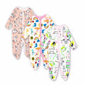 100% Cotton Baby Romper Long Sleeves