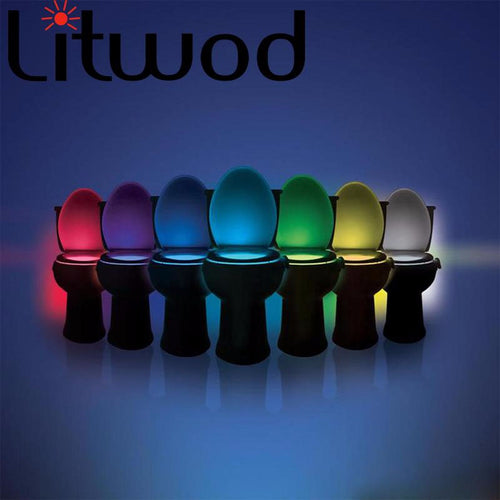 8 colors led toilet night light baby kids