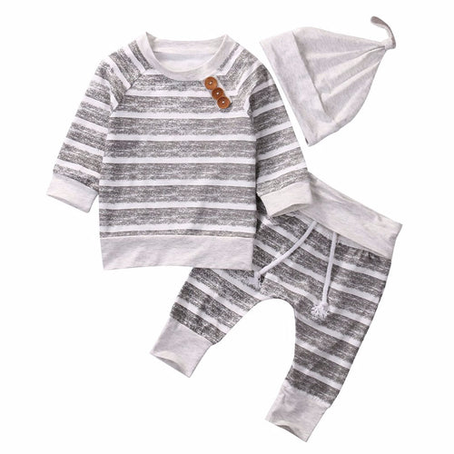 Baby Striped Tops T-shirt+Pants Leggings 3pcs