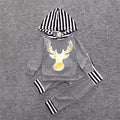 hooded baby girl clothes grey