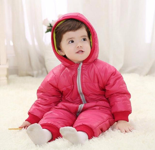 Baby Winter Jumpsuit Rose