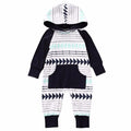 Warm Long Sleeve Hooded Romper