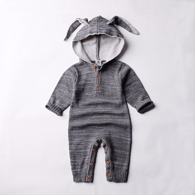 Wholesale 2017 Autumn Knitted baby boys girls clothes set long-sleeve Reindeer Newborn baby Romper jumpsuit roupas de bebe - flybabywear