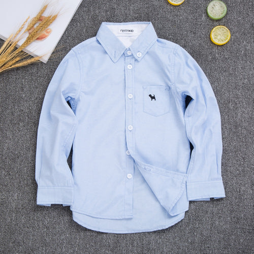 Cotton Shirt for Boys Long Sleeve Shirts
