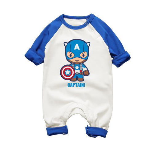 Baby Rompers Super Heros Spiderman Hulk Baby Boy Girl Romper Overalls Infantil Baby Clothing Newborn Boys Girls Clothes Jumpsuit - flybabywear