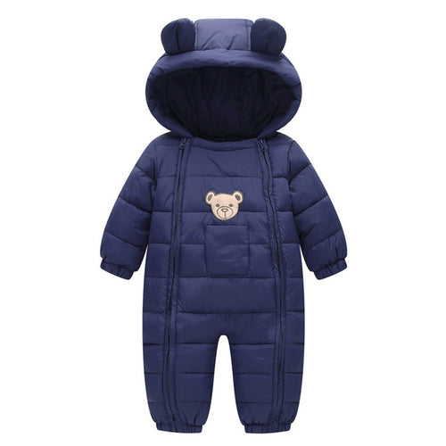 Baby Girls Boys Clothes Hooded Baby Boys Rompers Cotton-padded Jumpsuits Infants Kids Winter Clothes - flybabywear