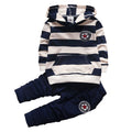 BibiCola Baby Boy Clothing Set Infant Bebe Sports Set Kid Hoodies+Pants Suit Set Toddler Girl Striped Tracksuit Children Clothes - flybabywear