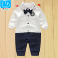 Newborn Baby Boy Rompers 100% Cotton Tie Gentleman Suit Bow Leisure Body Suit Clothing Infant Jumpsuit Toddler Boys Clothes - flybabywear