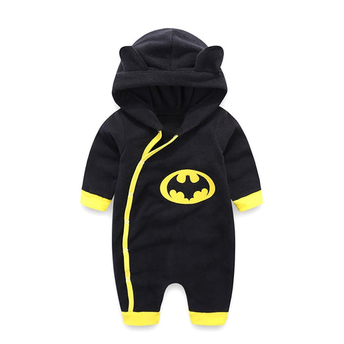 Newborn Baby Clothes Batman Winter Jumpsuit