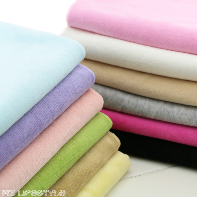 Stretchy cotton velvet Knitted fabric by half meter DIY sewing baby cotton fabric for clothing blanket making material 50*150cm - flybabywear