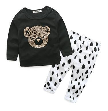 Style letter printed casual baby boy clothes baby newborn baby clothes kids clothes - flybabywear