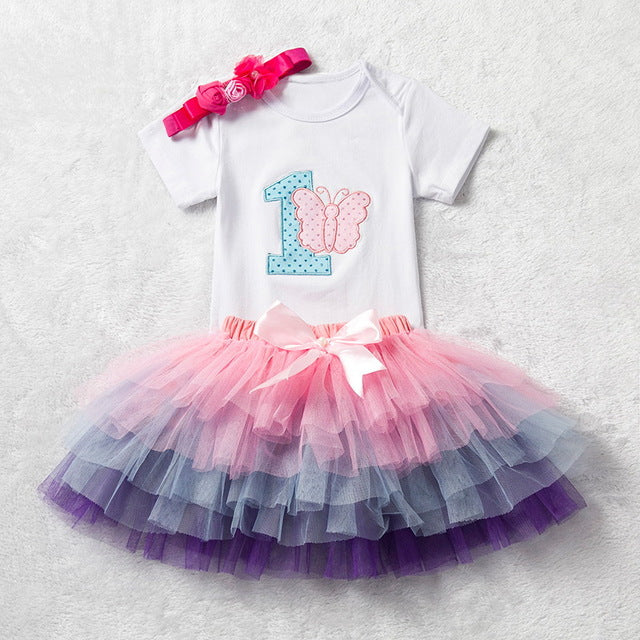 21d11b5a2 Birthday Cake Smash Outfits; Ai Meng Baby Girl Clothes; Baby Girl Tutu Skirt  ...