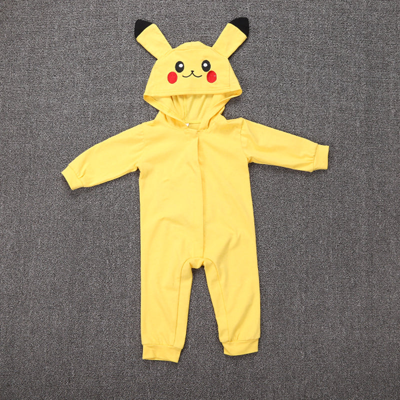 Pokemon Pikachu Cosplay Costume Mystic Instinct Valor Ash Hooded Toddler Clothes Infant Boy Girl Jumpsuit Halloween Baby Rompers - flybabywear