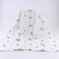 [simfamily] 1Pc Muslin 100% Cotton Baby Swaddles Soft Newborn Blankets Black White Gauze infant wrap sleepsack swaddleme manta - flybabywear