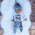 2018 Autumn new baby boy clothes set cotton long-sleeved Romper + trousers + hat  3 pcs. newborn baby boy clothes set SY161 - flybabywear