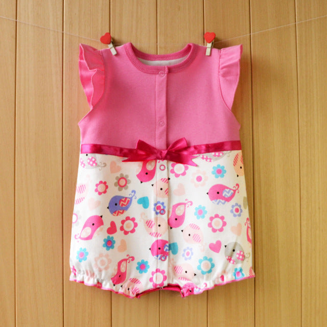 2018 Baby Clothing Summer Newborn Designer Clothes Girls Dress Infant Romper One Piece Bowknot