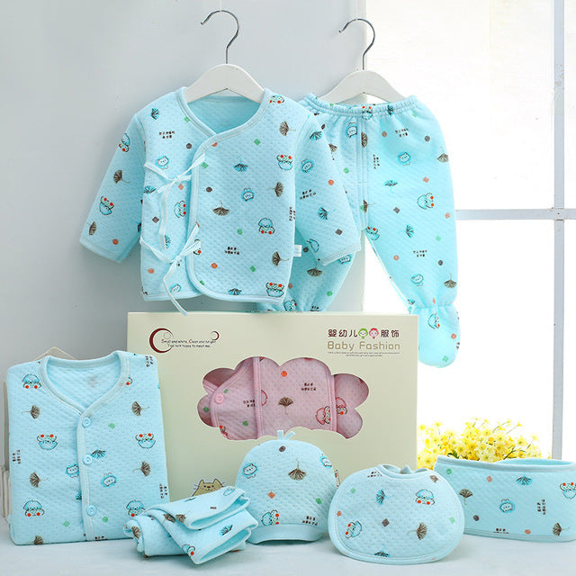 f6ff2eacdf637 ... 7 PCS/set 0-6M Newborn Baby Clothing Set Baby Boy Girl Spring Clothing  ...