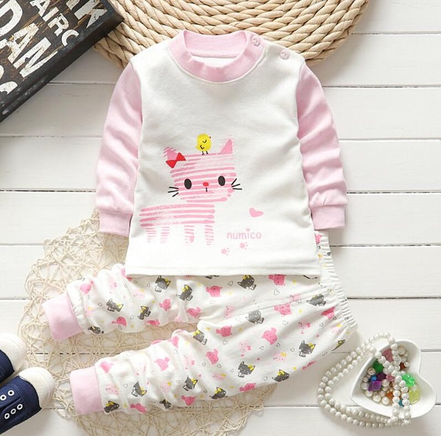 dc6a1fed8c482 Newborn Winter baby boys baby girls clothes cotton Baby girls Clothes Set  2PCS Cartoon baby Boy Clothes kids Clothing Sets bebes