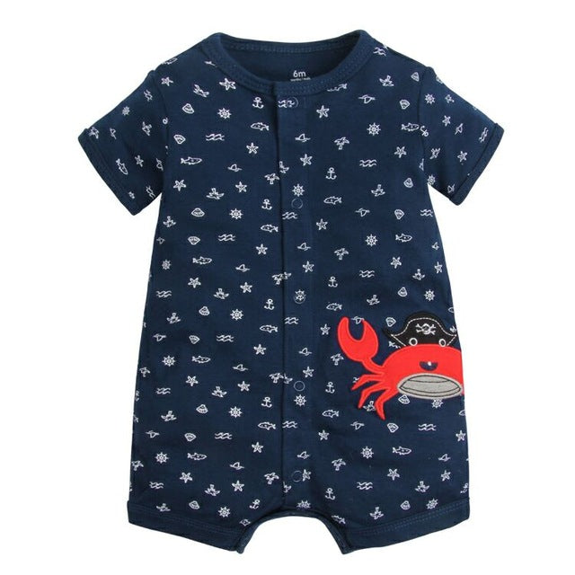 2018 Summer Short Sleeved Jumpsuit For Newborn Romper Character Baby Boy Clothes and  Baby Girl Clothes 0-24 Baby Rompers Summer - flybabywear