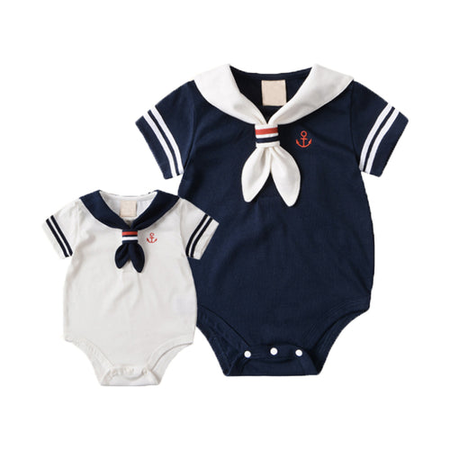 ecea1fa37b6d Summer Baby Rompers Cotton Baby Girl Clothes White Navy Style Baby Boy  Clothes Newborn Baby Clothes
