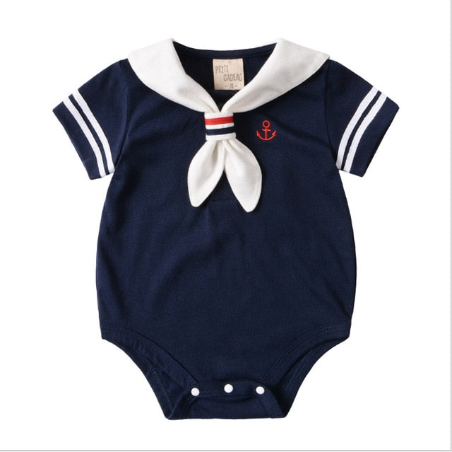 18925d4f469f1 ... Summer Baby Rompers Cotton Baby Girl Clothes White Navy Style Baby Boy  Clothes Newborn Baby Clothes ...