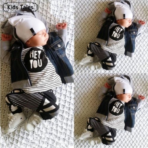 106f6a8a23002 2018 New Fashion baby boy girl clothing set cotton letter long-sleeved  T-shirt