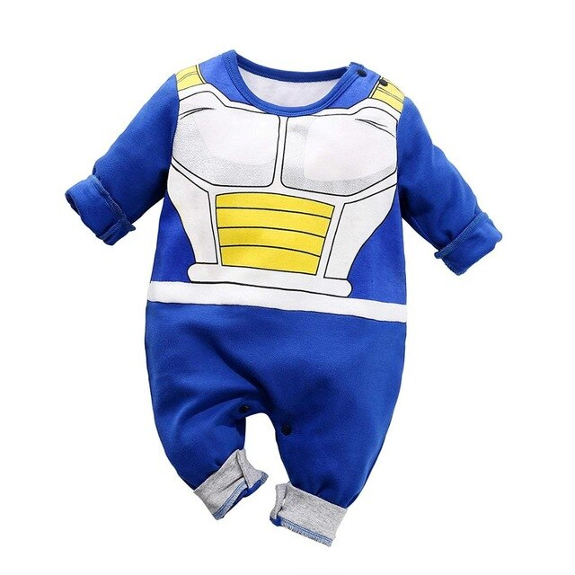 2019 Dragon Ball Vegeta romper baby boy jumpsuit 100% cotton