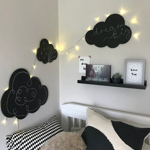 Set of 3 Chalkboard Clouds
