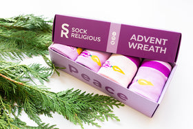Advent Wreath Socks