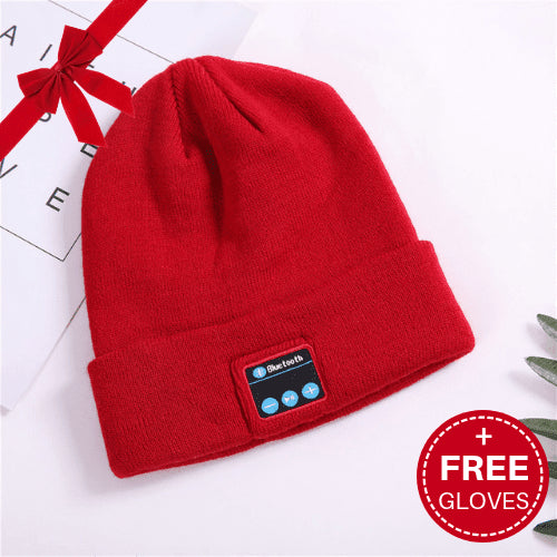 Bluetooth Wireless Hat 2.0 + FREE Touchscreen Gloves