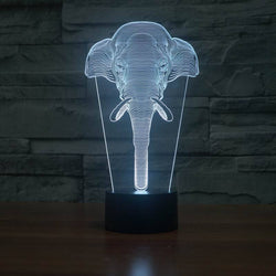 Exclusive 3D LED Light - Mega Elephant