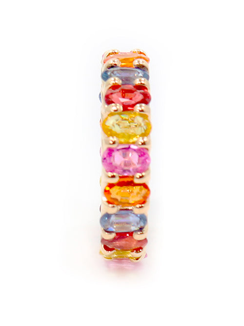 Albert Hern Natural Multi Color Sapphire Eternity Ring