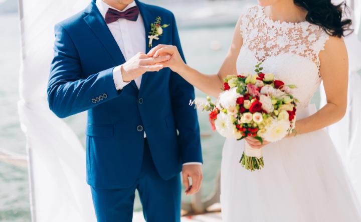 How to put on wedding band during ceremony
